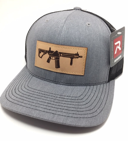 VA AR Leather Patch Hat (Heather Grey)