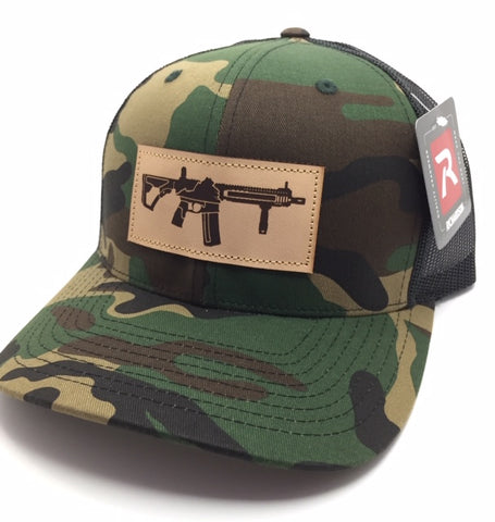 VA AR Leather Patch Hat (Camo)