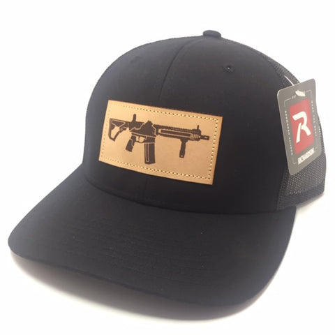 VA AR Leather Patch Hat (Black)