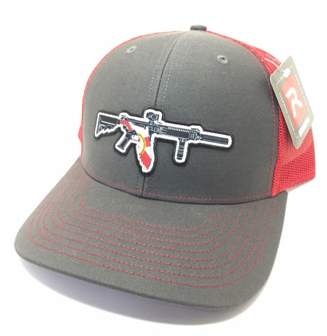 FL AR Trucker Hat (Charcoal/Red)