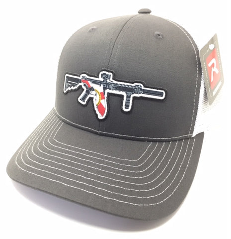 FL AR Trucker Hat (Charcoal/ White)
