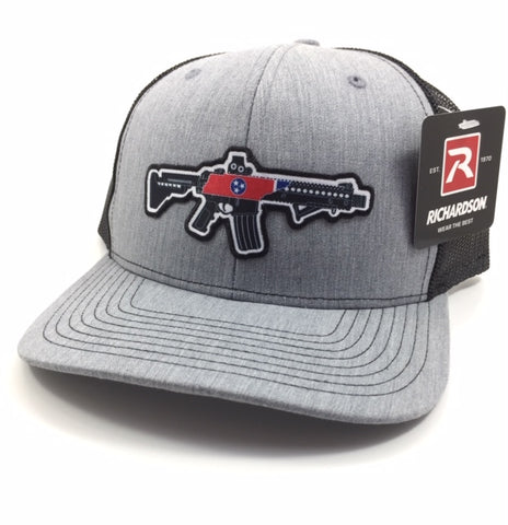 TN AR Trucker Hats (Heather grey/Black)