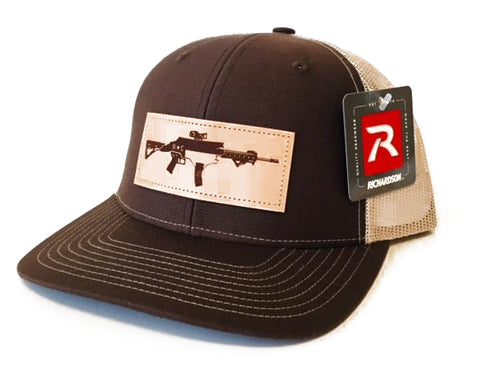 NC AR Leather Patch Hat (Brown/Khaki)