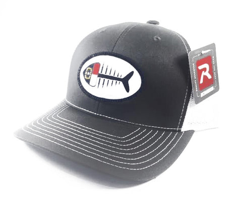 NC Fish Patch Trucker Hat (Charcoal)