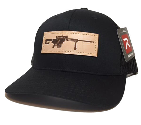 TN .50 Cal Leather Patch Trucker Hat (Black)