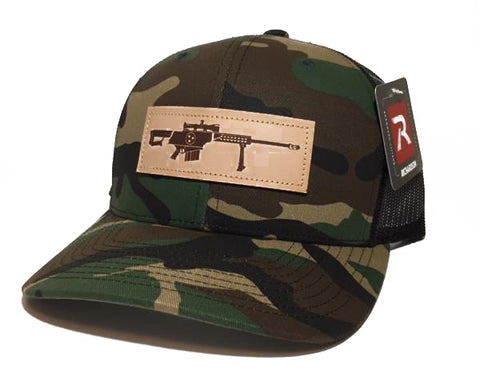 TN .50 Cal Leather Patch Hat (Camo)