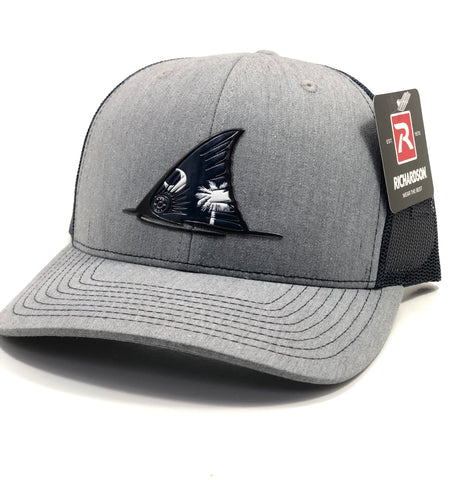 SC Red Fish Tail Fin Hat (Heather Grey/Navy)
