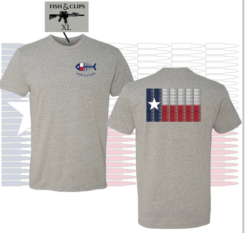 TX 5.56 Flag Tee Heather Grey
