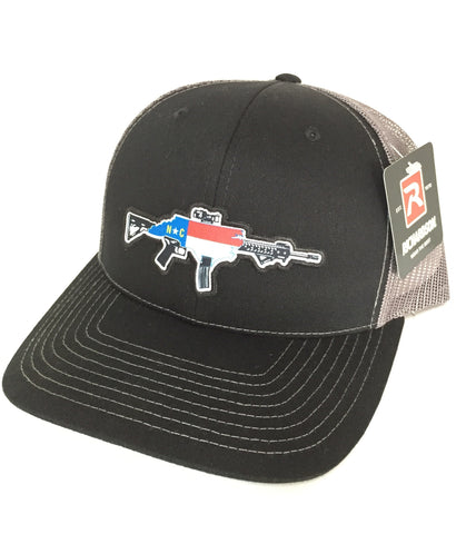 NC AR Trucker Hat (Black/Charcoal)
