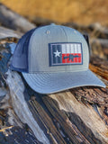 TX 5.56 Flag PVC Patch Hat Heather Grey/Navy