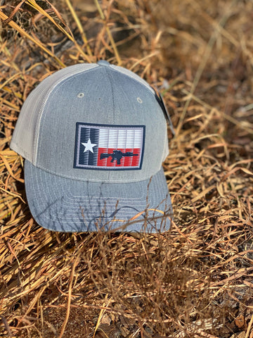 TX 5.56 Flag PVC Patch Hat Heather Grey