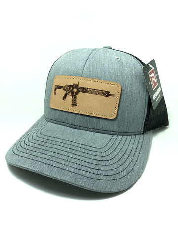 SC AR Leather Patch Hat (Heather Grey)