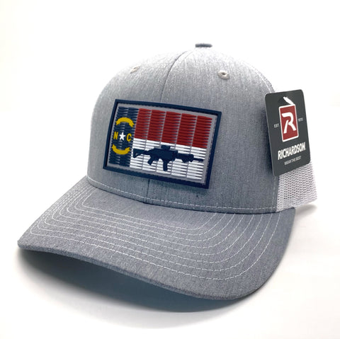 NC 5.56 Flag Hat Heather Grey