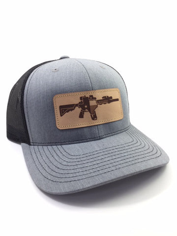 TX AR Leather Patch Hat (Heather Grey)
