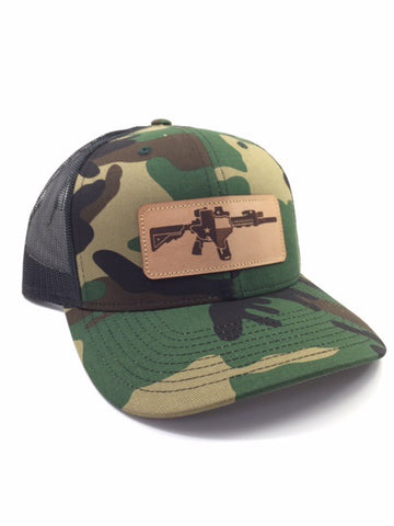 TX AR Leather Patch Hat (Camo)