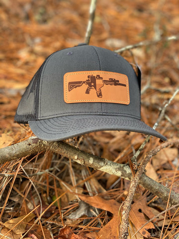 TX AR Leather Patch Hat (Charcoal/BLK)