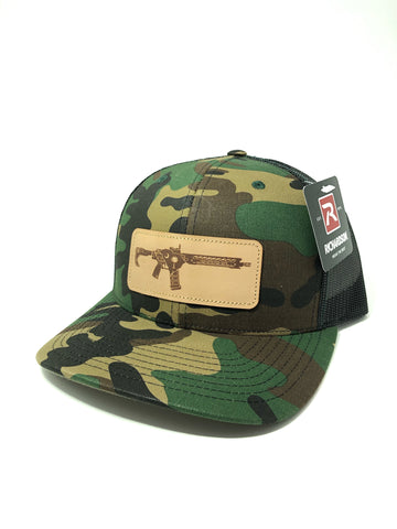 SC AR Leather Patch Hat (Camo)