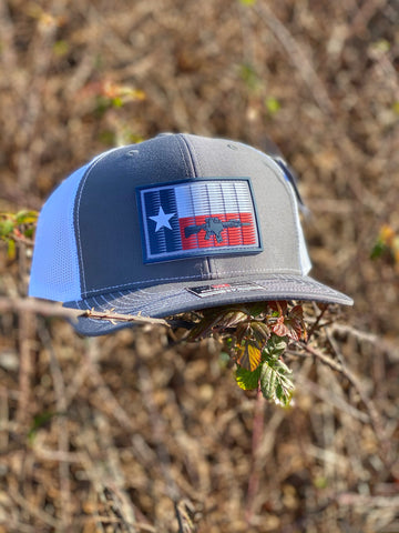TX 5.56 Flag PVC Patch Hat Charcoal