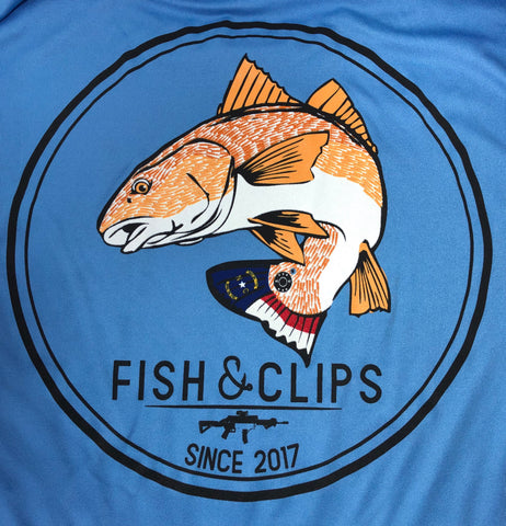 NC Bullet Red Fish Swim Tee (Light Blue)