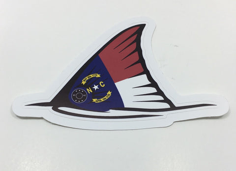 NC Red Fish Tail Sticker