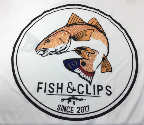 NC Bullet Red Fish Swim Tee (White)