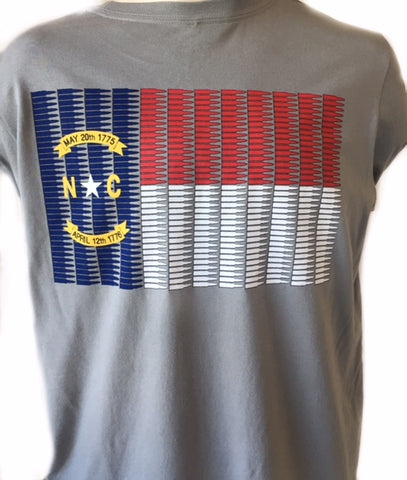 NC 5.56 Flag Long Sleeve Tee (Storm Grey)