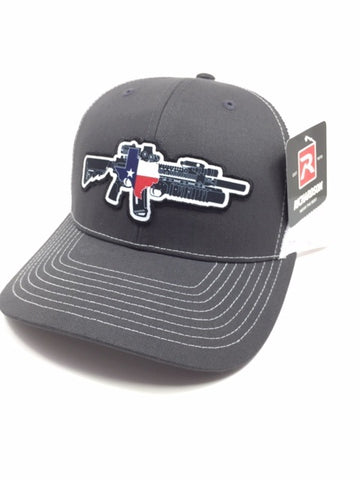 TX AR W/M203 Hat (Charcoal/White)