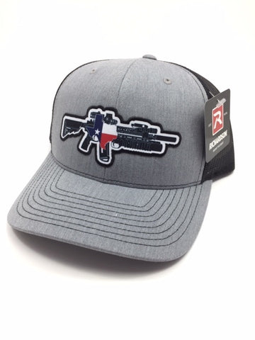 TX AR W/M203 Hat (Heather Grey/Black)