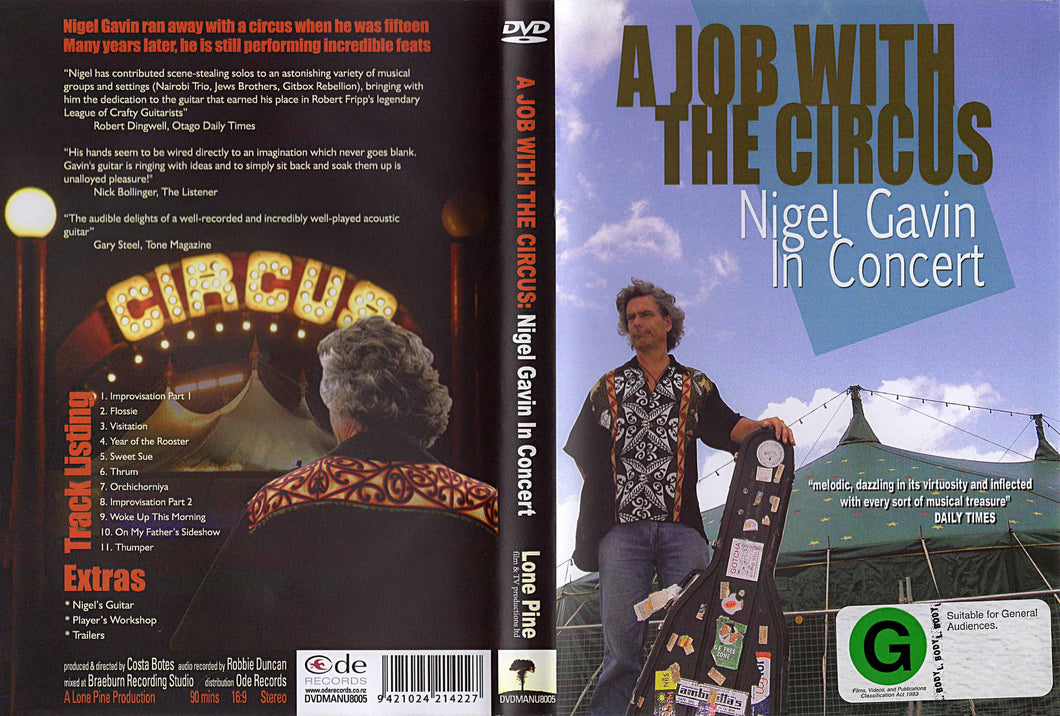 A JOB WITH THE CIRCUS
