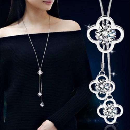 Maxi Crystal Rhinestone Long Necklace