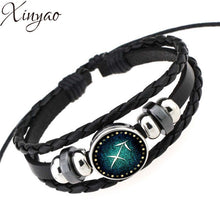 Leather Braided Constellation Bracelet