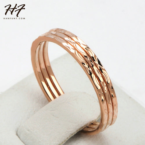 Triple love Rose Gold Color  Ring
