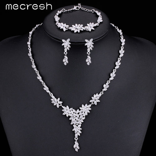 Leaf Crystal  Rhinestone Necklace,Choker and Earrings Bridal Set