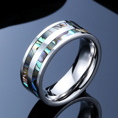 Royal Silver Color Stainless Steel Men Ring