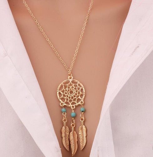 Tassels Feather Pendant Necklace