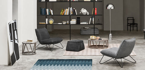 Setting with 2 Rolf Benz 394 Lounge Chairs - not in stock