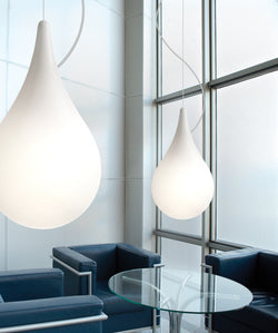 Drop 2 Pendant Lamp from Next Lighting. in white.  Imported from Germany