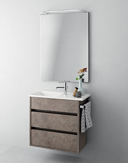 Duetto34 / 17 Vanity in Grafite Brown Finish