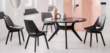 Rolf Benz 650 Dining Chair in oak black pigmented in dining setting with round dining table
