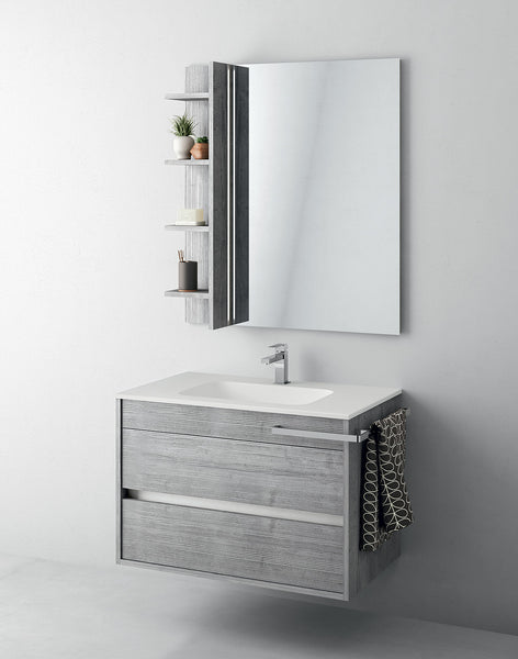 Duetto 50 Bathroom Vanity in Grafite Line Gray