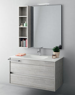 Duetto 50 Bathroom Vanity in Grafite Pino Vintage