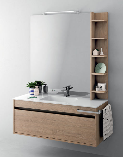 Duetto 50 Bathroom Vanity in Grafite Olmo