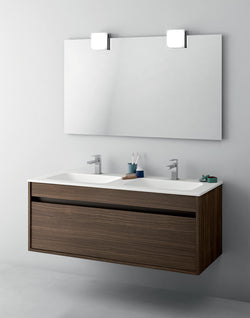 Duetto 50 Bathroom Double Vanity in Noce Fume
