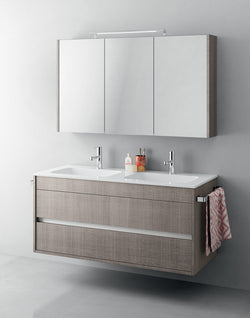 Duetto 50 Bathroom Double Vanity in Tranche Chiaro