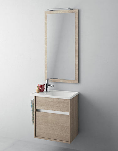 Duetto 34 Bathroom Vanity in Rovere White