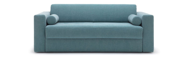 Freistil Sleeper Sofa in light blue color closed