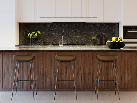Piani Mono LED Pendant Lamp from Byok over a kitchen island