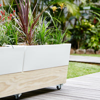 Patio Planter Box with Wheels