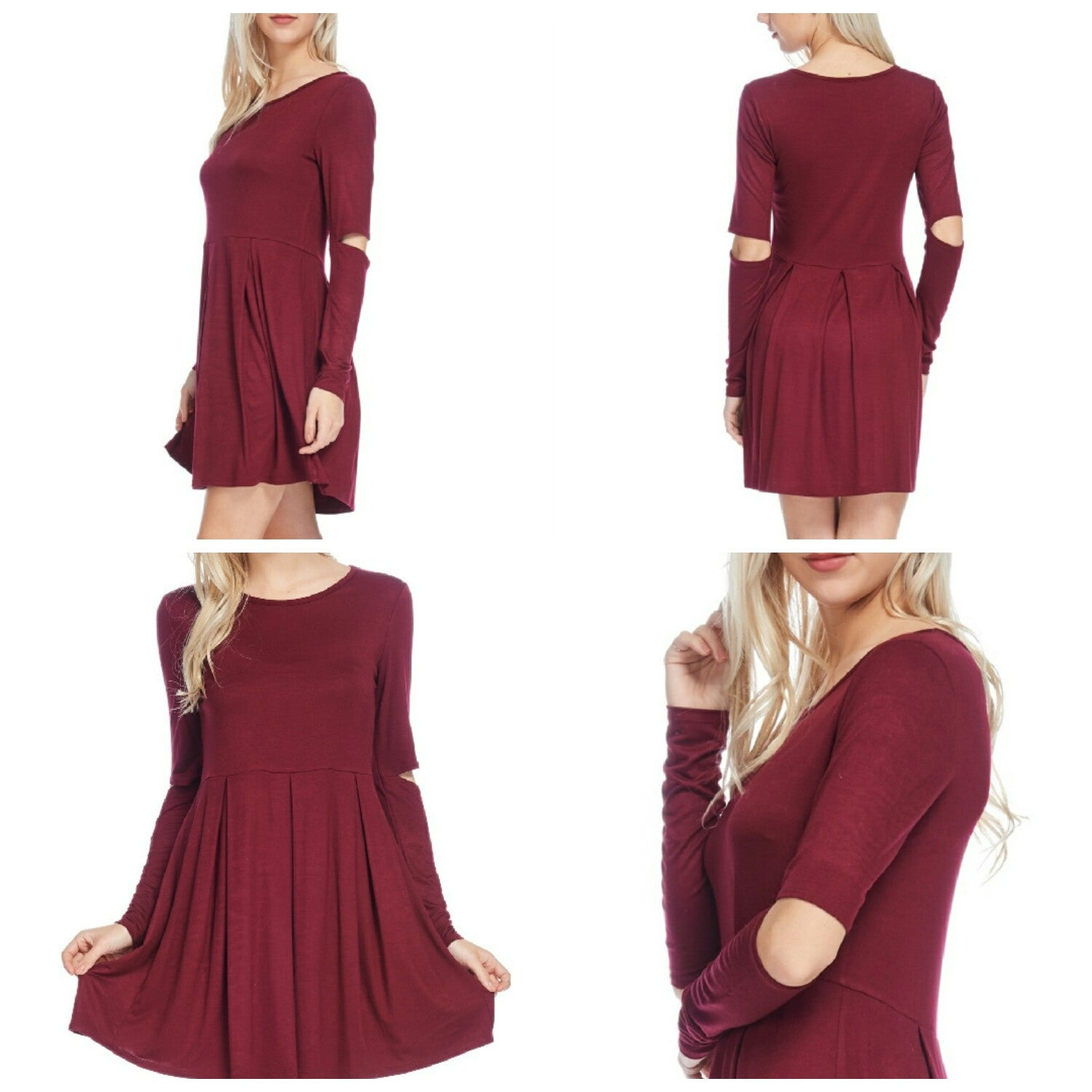 Elbow Cutout Shift Dress