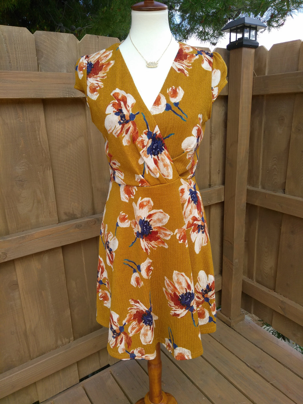 Rust Wrap Dress